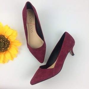 Sole Society Desi' Kid Suede pointy pumps
